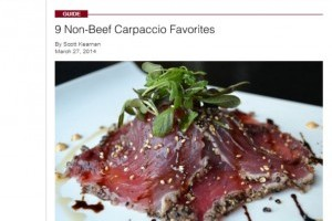 9 Non-Beef Carpaccio Favorites