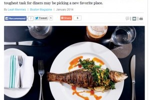 The Pescavore's Dilemma: Boston's Restaurant Scene Is Having a Seafood Moment