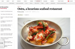 Ostra, a luxurious seafood restaurant